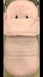 Saco silla bugaboo camaleon 2 y 3 pique rosa estrella blanca