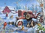 Christmas on The Farm Jigsaw Puzzle 1000 Piece