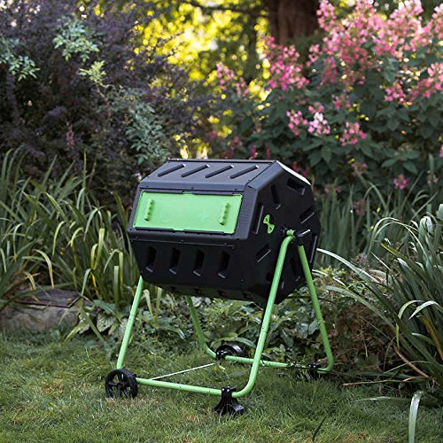 Great Features Of Dual Chamber Tumbling Composter with Wheel Kit