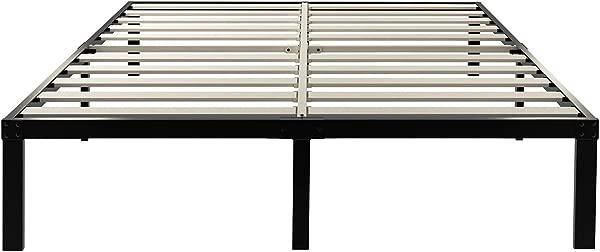 ZIYOO 14 Inch Wooden Slats Platform Bed Frame 3500lbs Heavy Duty Strengthen Support Mattress Foundation Quiet Noise Free Cal King