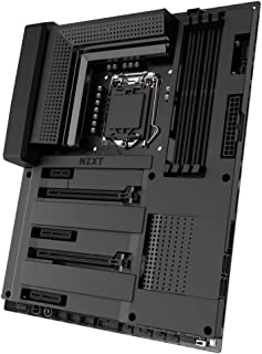 NZXT N7 Z370 - Designed with Intel Z370 chipset (Supports 8th Gen CPUs) - ATX Gaming Motherboard - Two M.2 Connectors - DDR 4 - SLI and CrossFireX Support - HUE+ Digital RGB Lighting Control - Black