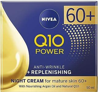 NIVEA Q10 Mature Anti-Wrinkle + Replenishing Night Cream Moisturiser for Mature Skin with Argan Oil & Natural Q10, 50 ml