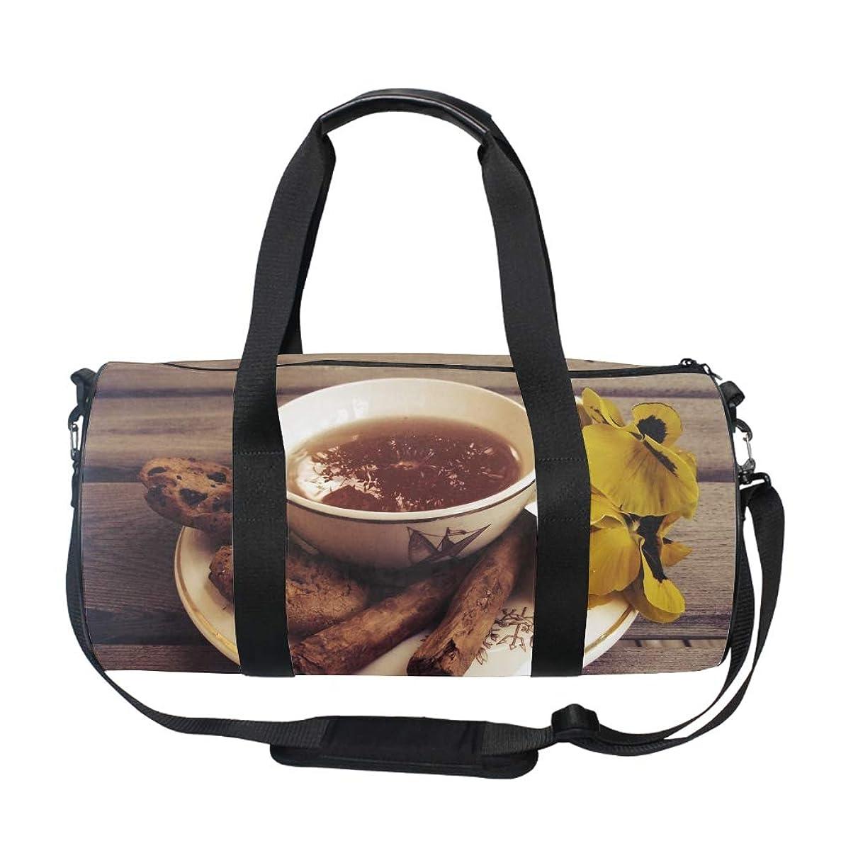 常識偽善提案2wayスポーツバッグ 乾湿分離 シューズ収納 防水 ボストンチョコチップクッキー ジム プール 海 旅行 ドラムバッグ