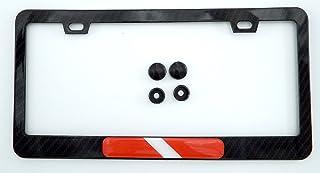 إطار لوحة ترخيص سيارة معدني أسود من ألياف الكربون بمظهر ألياف الكربون
