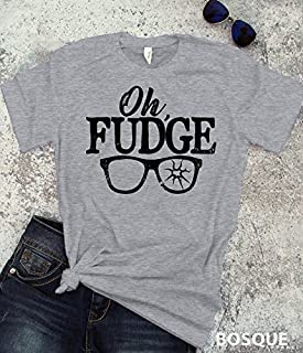 Christmas Story Inspired Oh Fudge quote T-Shirt / Adult T-shirt Top Tee design - Ink Printed