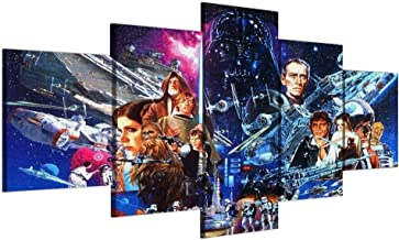 Modern 5 pieces Movie canvas Wall art painting abstract Star Wars wall pictures for living room posters and prints artwork-Without frame