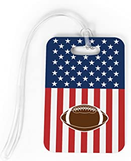football luggage tags