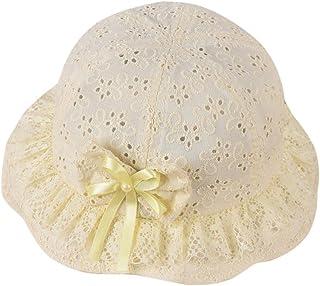 Topgrowth Cappello da Spiaggia Neonata Bambina Ricamato Arco Fiore Estate Princess cap Cotone Bimba Cappello da Sole
