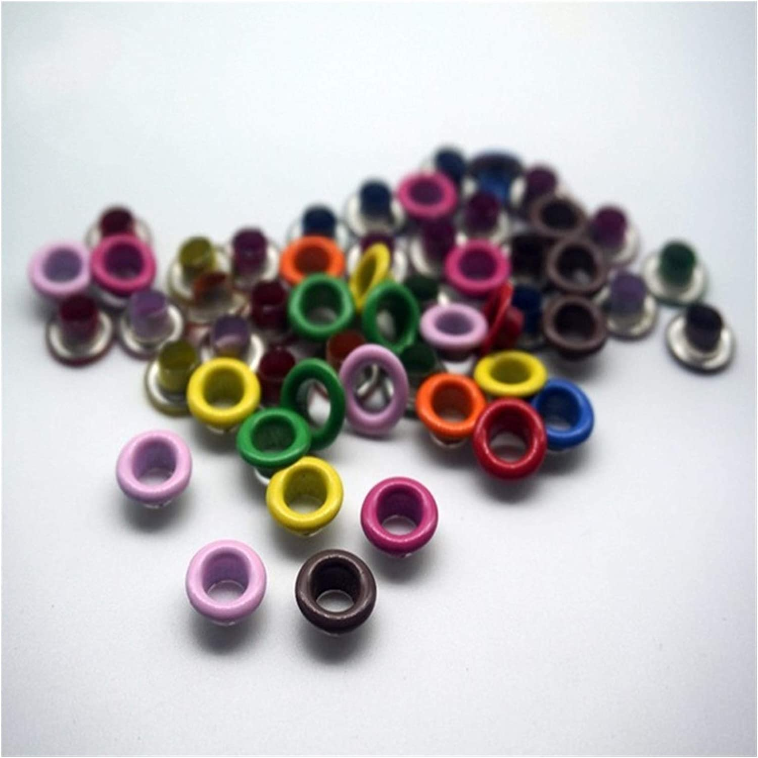 WSRZQ Setting Tool 100pcs Some Color Mixed Eyelets Inner Hole 5m