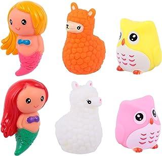 TOYANDONA 6pcs Bath Toys for Toddlers Baby Light Up Toys Bathtub Toy Flashing Colourful Led Light Shower Bath Time for Kid...