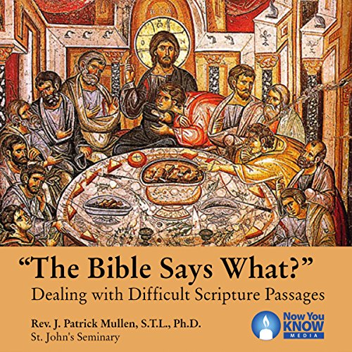 """The Bible Says What?"" audiobook cover art"