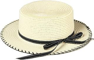 accsa Kid Girl Brim Summer Beach Straw Sunhat Fedora Panama