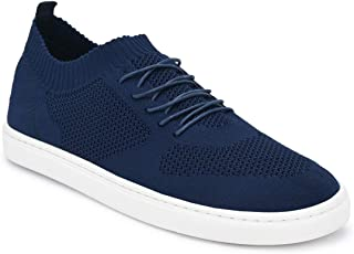 Parx Solid Dark Blue Coloured Synthetic Sneaker