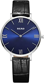 READ Women's Watches Leather Band Luxury Quartz Roman Numeral Watch Lady Casual Waterproof Wristwatch 6005