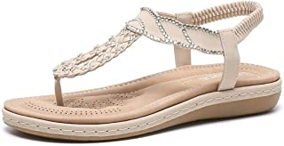 Summer Slippers Women's Sandals Summer Wedges Shoes Lightweight Beach Pool Indoor Outdoor (Color : Apricot, Size : 38)