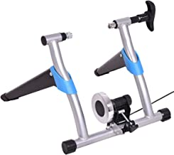 Goplus Bike Trainer Stand Portable Exercise Bicycle Trainer Stationary Magnetic Resistance Machine, Quiet Smooth Pedaling, Adjustable 8 Levels, Silver