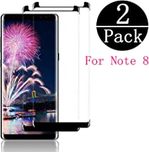 [ 2 Pack ] Galaxy Note 8 Screen Protector, Premium [3D Curved] [Case Friendly] [Anti-Scratch] 9H Hardness Tempered Glass Film Screen Protector Compatible Samsung Galaxy Note 8