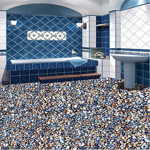 Pintura de suelo personalizada 3d adoquines azulejos de baño pintura personalidad sala de estar papel tapiz pintura decorativa 3d 350x245cm