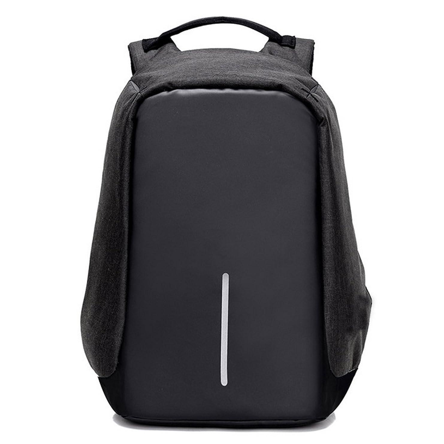 動的晩餐慎重にpelisy多機能15インチノートパソコンバックパックwith USB充電ポート旅行バッグforレディース&メンズ ブラック