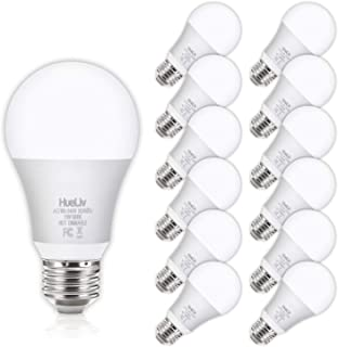 12Pack A19 LED Light Bulbs 100 Watt Equivalent 5000K Daylight White, No Flicker E26 Medium Screw Base Bulbs, 1100Lumens, Non Dimmable