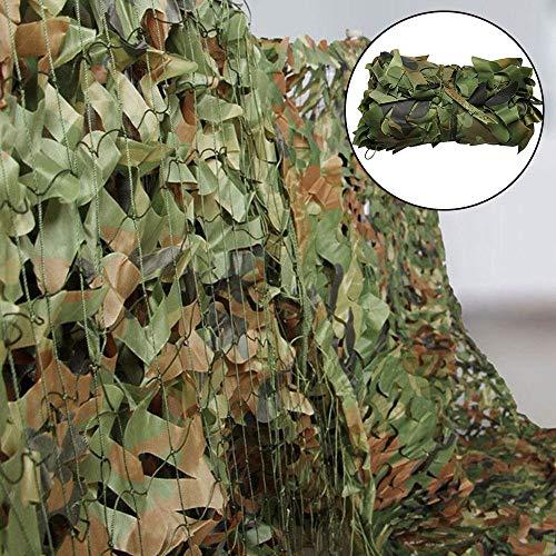 Iraza Red de Camuflaje,Cubierta Camouflage Net Red de Caza Mallas de Protección Ejército Combate Militar Táctico al Aire Libre Sombra Proteger del Viento (Camo Verde, 3x5M)