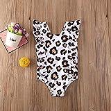 Kleinkind Baby Kinder Kinder Mädchen Mode Nette ärmellose Leopard Rüsche Einteilige Anzüge Bikini Badeanzug Badestrand Outfits (Size : 2 to 3 Years)