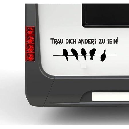 Pegatina Promotion Wohnmobil Wohnwagen Aufkleber Vögel Auf Leine Typ1 Ca 35cm Trau Dich Anders Zu Sein Sticker Autoaufkleber Auto