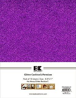 Best Creation A4 Glitter Cardstock, Purple, 10 Piece