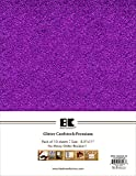 Best Creation A4 Glitter Cardstock, Purple, 10 Count