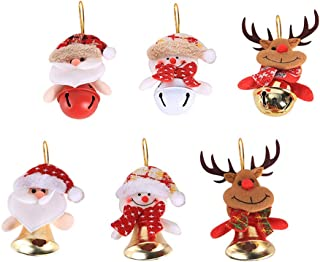 Christmas Tree ornaments Hanging Dolls Santa Claus, Snowman, Reindeer for Party Wedding Festival 6PCS