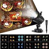 Projecteur Noël LED 6 Modes 4LED,Lamp de Projection Noël,Halloween 180° Angle...