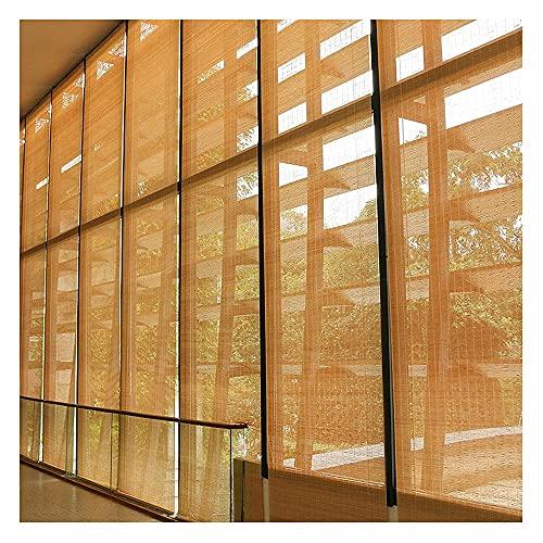 LAK Persianas Enrollables De Bambú, Persiana de bambú Exterior, Persianas Enrollables De Madera, Persiana De Bambú Interior, para Porche Patio Balcón Cocina (Size : 140x180cm/55x71in)
