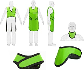 X Ray Radiation Protection Lead Apron with Collar 0.25mm Pb Lead Equivalent Color (Green)
