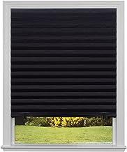"Original Blackout Pleated Paper Shade Black 36"" x 72"" black 1617201 1"