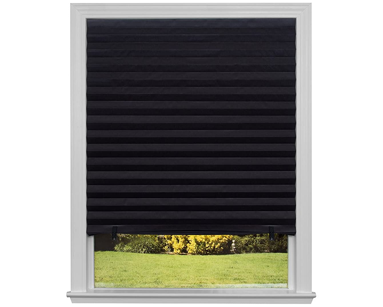 """Original Blackout Pleated Paper Shade Black, 48"""" x 72"""", (Pack of 6)"""