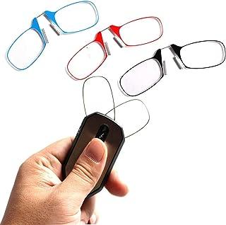 155d744284 HHCC Gafas de Lectura Llavero Portátil Clip Nariz Descansar Anteojos Sin  Brazo Pellizco Gafas de presbicia