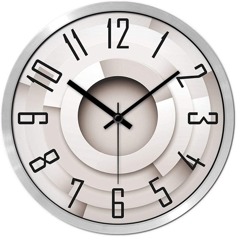 Grte Large Quartz Clock,Wall Clock Elegant Lounge Bedroom [Creativity] [Mute] Minimalist Modern The Alarm Clock-C 14Po