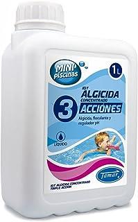 Tamar - Algicida 3 Acciones- especial Mini Piscinas- Garrafa de 1 Litro.