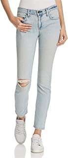 Rag & Bone Womens DRE Denim Light Wash Straight Leg Jeans Blue 24