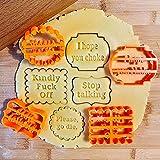 Stampo per timbri per biscotti,Stampi per biscotti con auguri,Stampi per torta al cioccolato per forme di cottura,Cioccolato,Biscotti (4 pezzi/set)