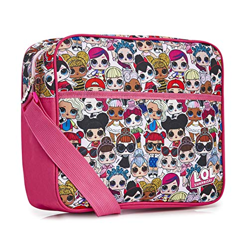 L.O.L. Surprise! LOL Dolls Messenger Bag for Girls and Teens, Pink School Bags for Girls, Children Cross Body Shoulder Bag School or Travel, Gifts for LOL Doll Fans Girls Teenagers