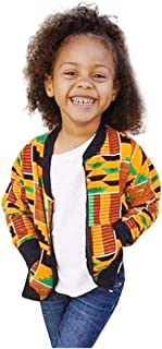 Unisex Kids African Jackets, Toddler Little Girls Boys Boho National Print Windproof Outerwear Dashiki Coat