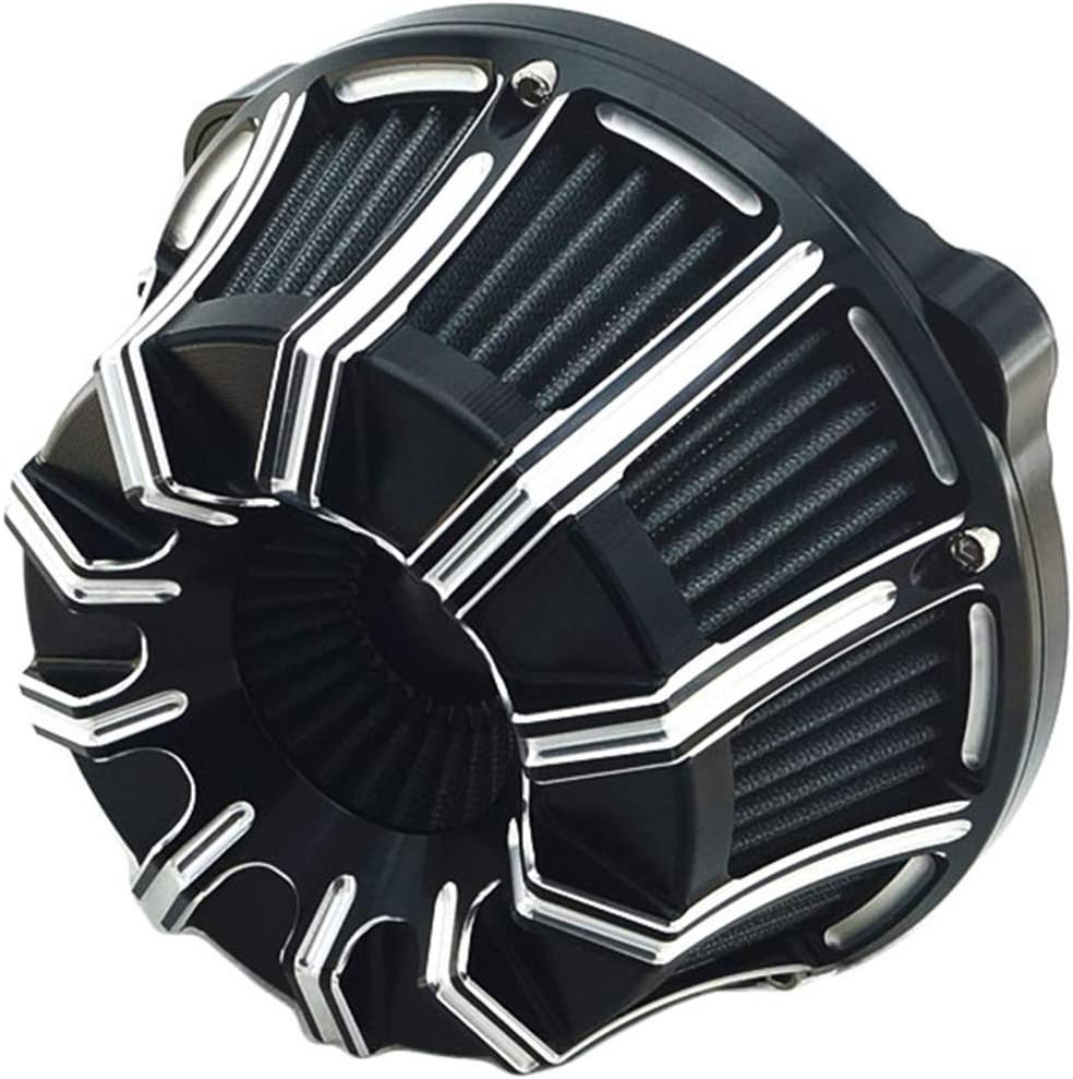 Air Filter Cnc Cut Cleaner Motorcycle Special price for a limited time Black Regular store Harle Kit Intake for