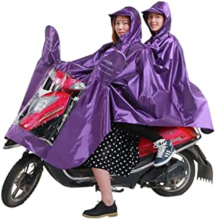 HYBAUDP Raincoat Poncho Set Raincoat Adult Riding Battery Car Motorcycle Men and Women Single Double Poncho Increase Thicken Electric Bicycle,Green (Color : Purple)