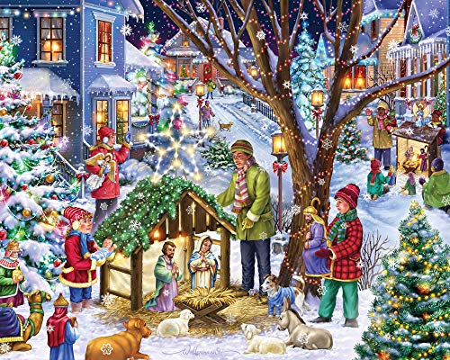 Neighborhood Nativity Jigsaw Puzzle 1000 Pieces