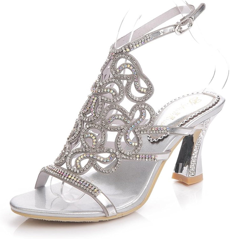 Doris Fashion GS-L019 Women's Glitter Rhinestones Sandals Evening Wedding Heels