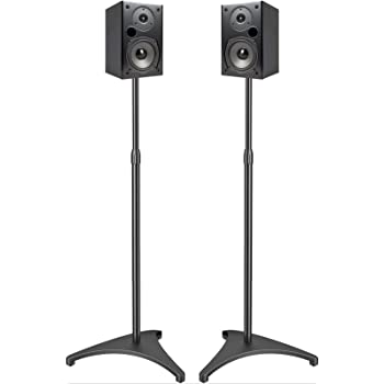 Amazon.com: Atlantic Adjustable Height Speaker Stands Black - Set
