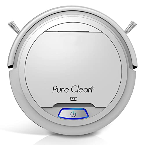 Pure Clean Robotic Vacuum Cleaner - Robot Home Cleaning for Clean Carpet Hardwood Floor - Bot