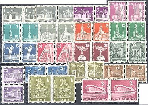 Goldhahn Berlin Stadtbilder 1956 1963 Paarsatz postfrisch komplett 18 Paare Briefmarken für Sammler
