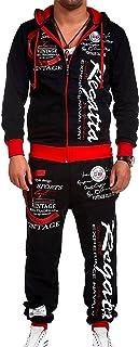 Men's hip-hop dance jogger casual sportswear 2-piece suit,Hip hop Loose SweatpantsGraffiti Sports Jogger Trousers,long-sle...